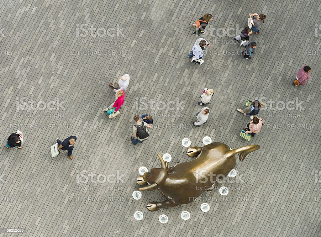 Birmingham Bull and Shoppers stock photo