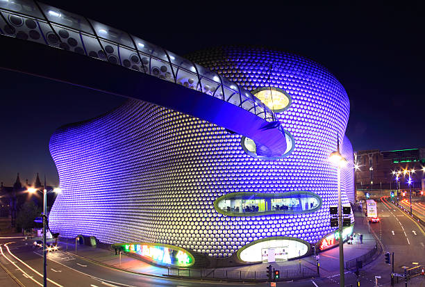Birmingham Bull Ring by night stock photo