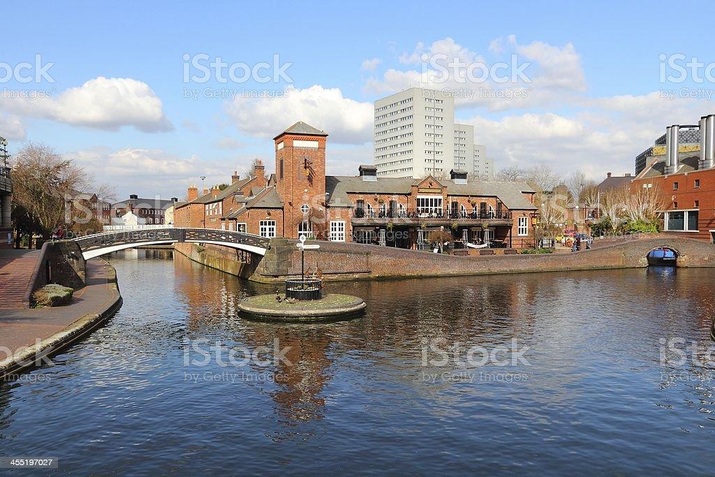 Birmingham canal stock photo