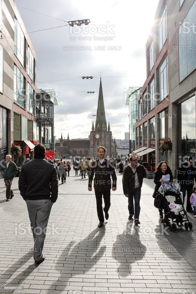 Birmingham city center street scene, 16. october 2010, United Kingdom stock photo