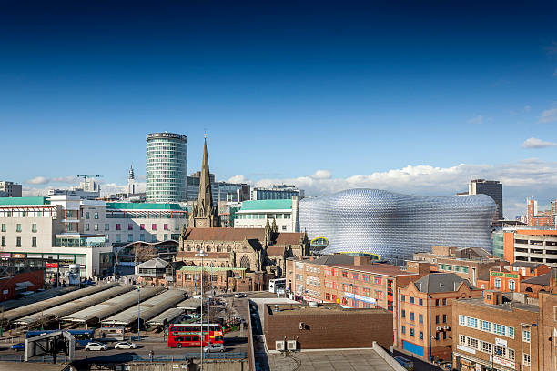 Birmingham city centre, Rotunda, Bull Ring, Selfridges, von der Markt. – Foto