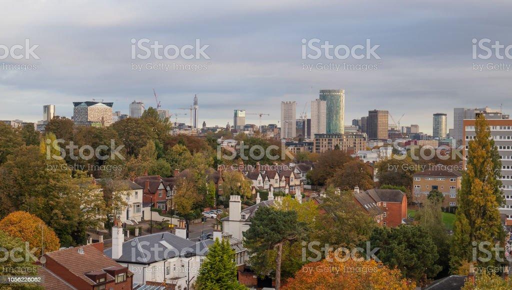 Birmingham city centre skyline 2018. stock photo
