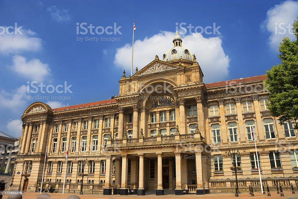 Birmingham City Council Asamblea en la plaza Victoria Square foto de stock libre de derechos