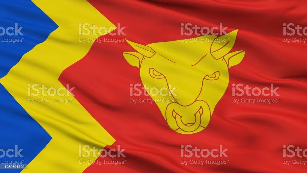 Birmingham City Flag, Uk, Closeup View stock photo
