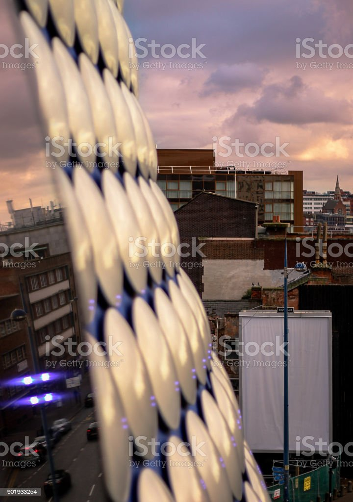 Birmingham City Skyline From Bullring stock photo