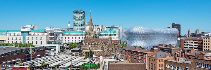 A panoramic image of Birmingham, England, UK.