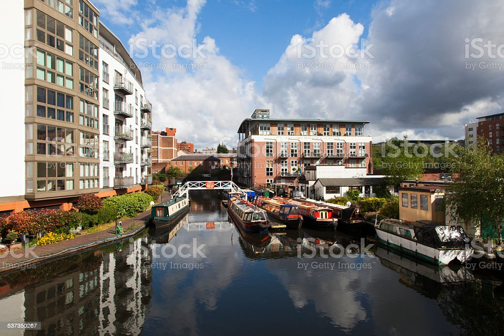 Birmingham England canals stock photo