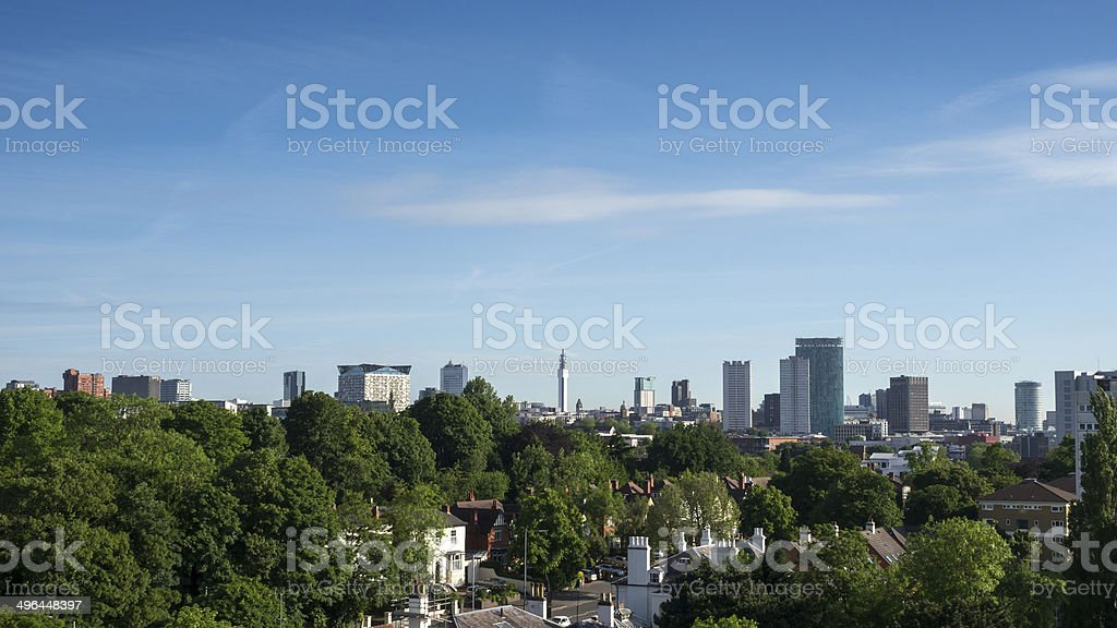 Birmingham, England city centre skyline. stock photo