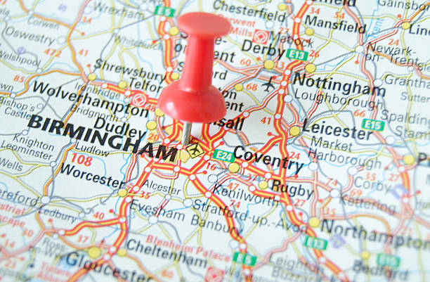 Birmingham Map stock photo