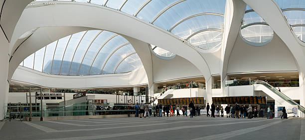 Birmingham New Street Station concourse. stock photo