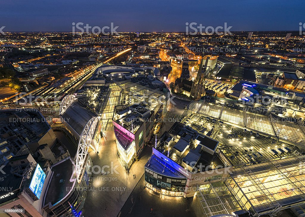 Birmingham Night - Bullring and Beyond stock photo