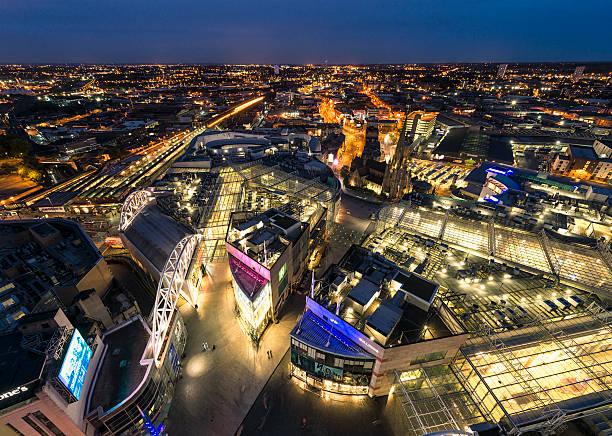 Birmingham Night - Bullring and Beyond stock photo