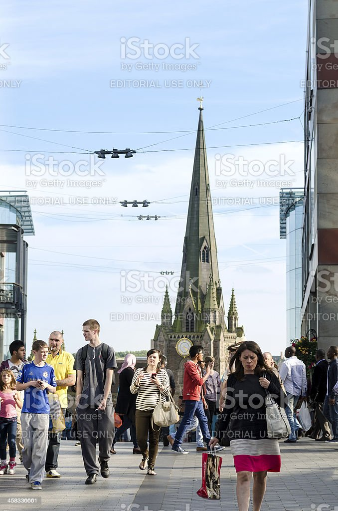 Birmingham Shopping - The Bullring royalty-free stock photo