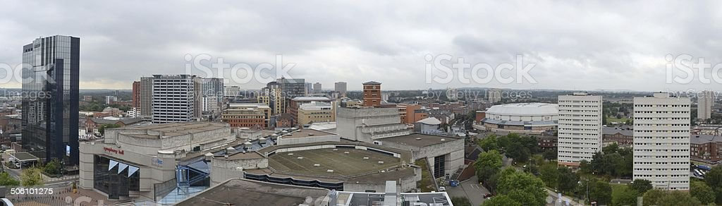 Birmingham Skyline Panorama stock photo