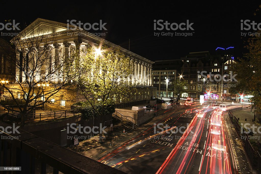 Birmingham Town Hall at Night stock photo