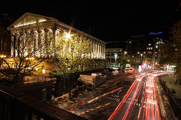 Birmingham Town Hall at Night stock photo