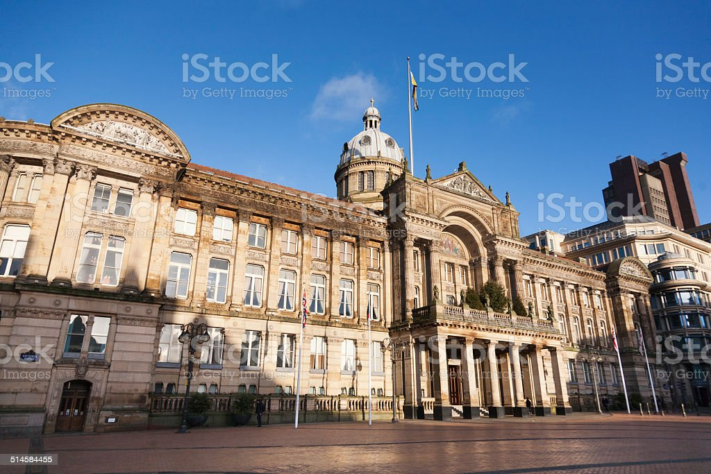 Birmingham Town Hall stock photo