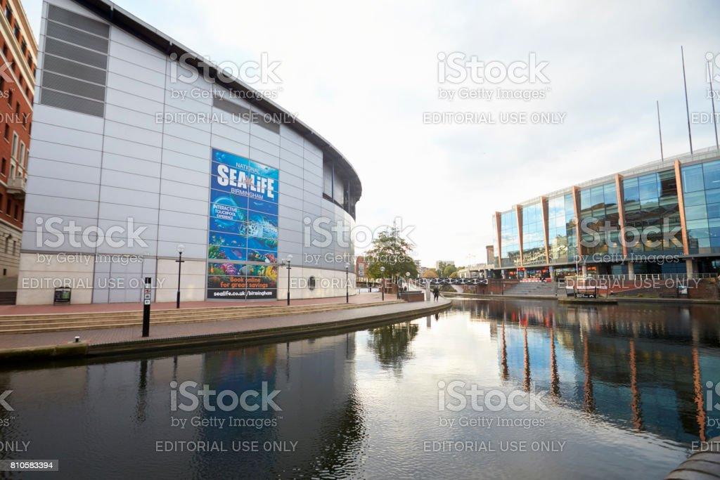 Birmingham, UK - 6 November 2016: Birmingham Canal Old Line Running Through City stock photo