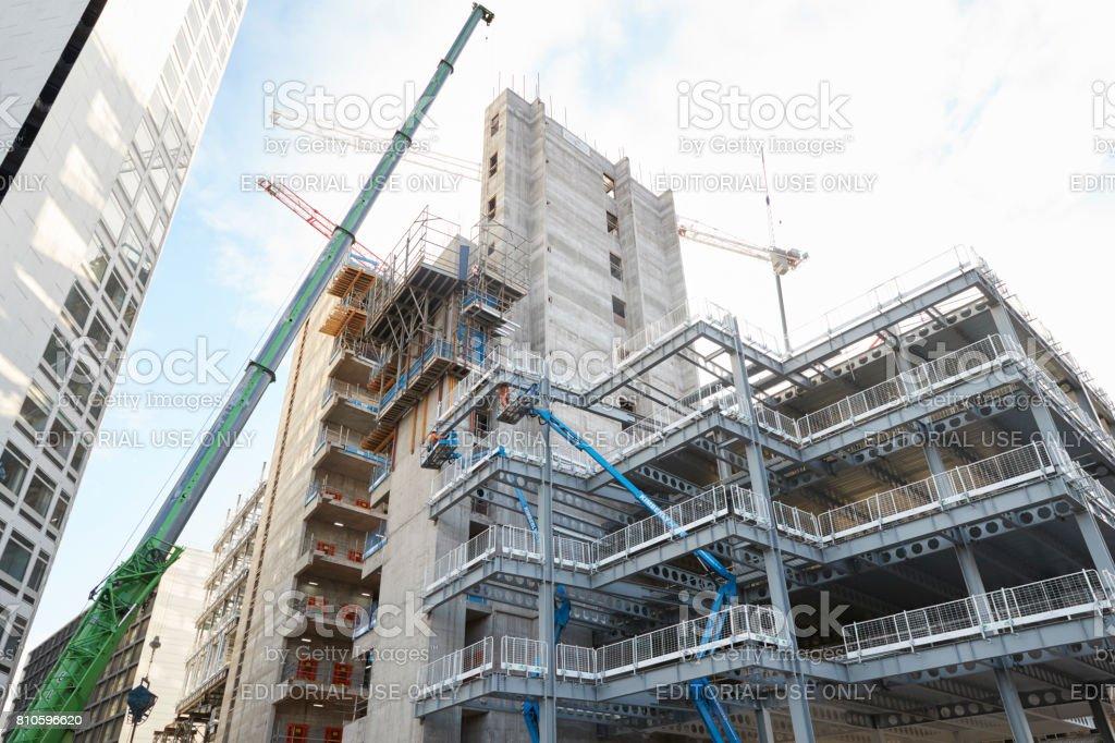 Birmingham, UK - 6 November 2016: Construction Site In Birmingham City Centre stock photo