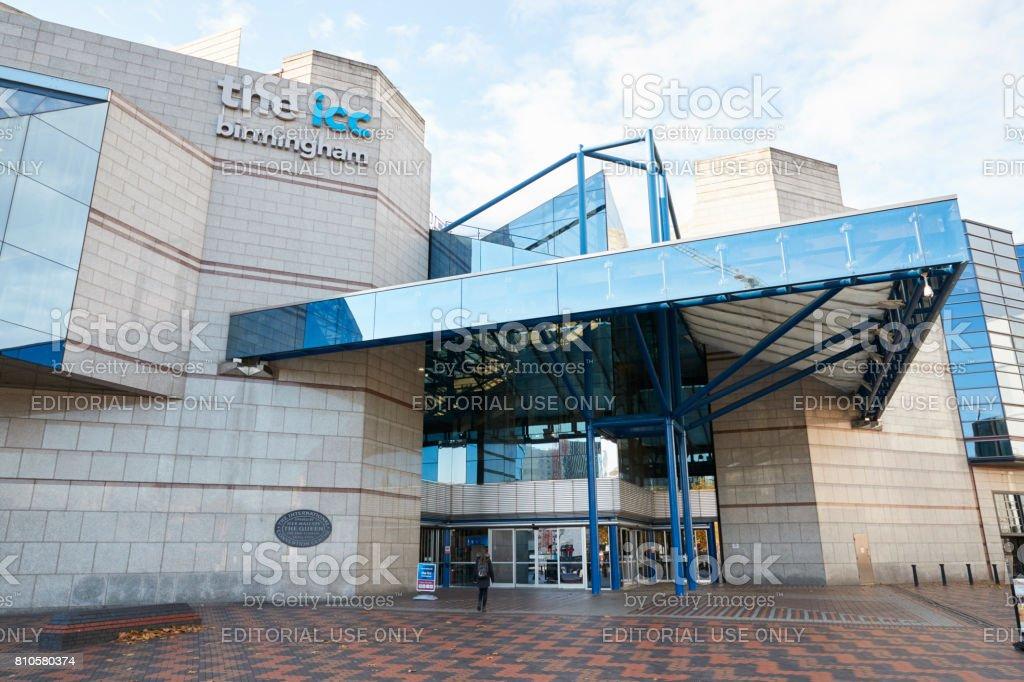 Birmingham, UK - 6 November 2016: Exterior Of The Birmingham International Convention Centre stock photo