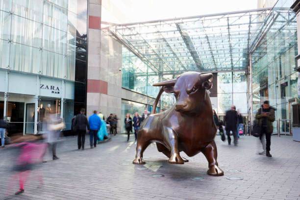 Birmingham, UK - 6 November 2016: Statue Outside The Bullring Shopping Centre In Birmingham UK stock photo