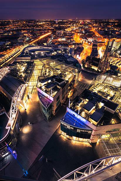 Birmingham, UK at night stock photo