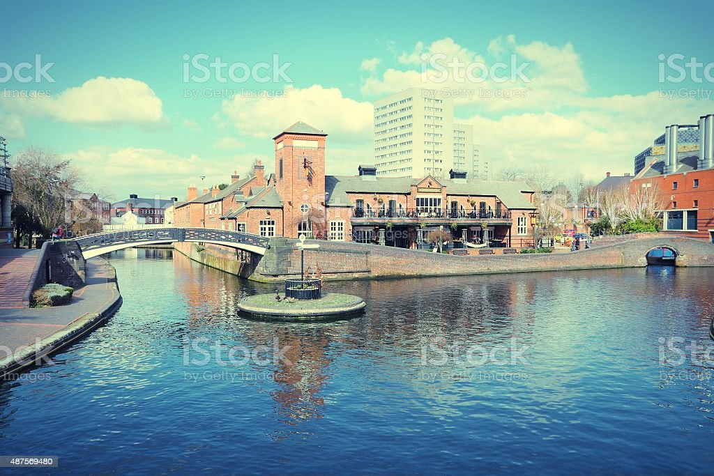 Birmingham waterway stock photo