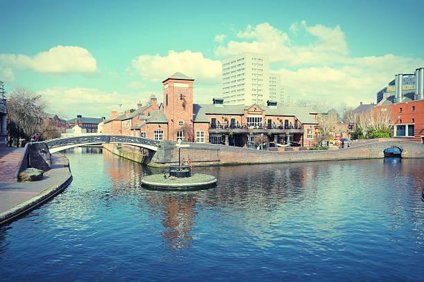Birmingham waterway stock photo