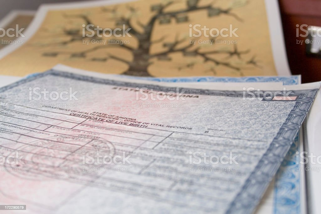 Birth Certificates stock photo
