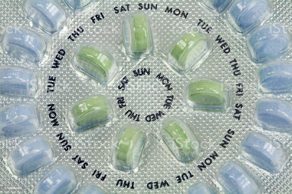 Birth Control Pills (Social Issues Series) stock photo