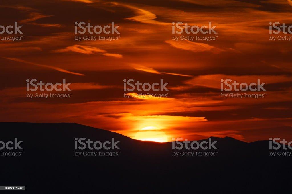 Gün doğumu doğuşu stok fotoğrafı