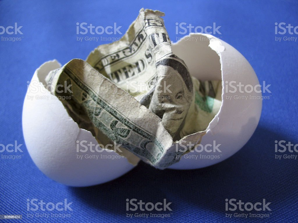 Birth of Capitalism - Blue royalty-free stock photo