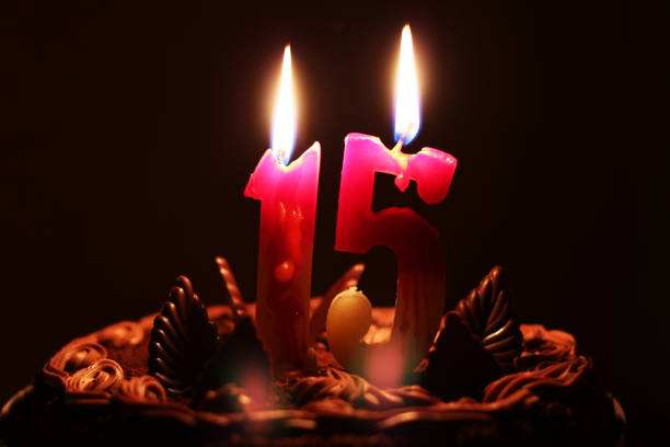 Birthday 15 Years Stock Photo
