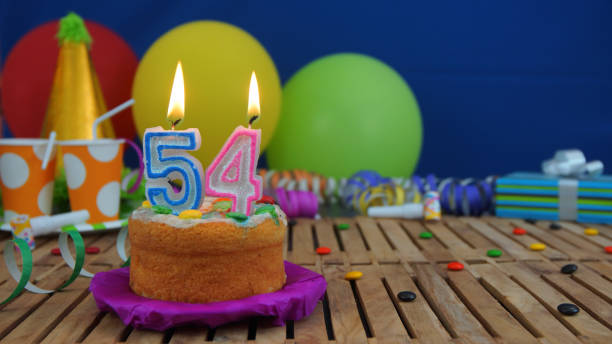 Birthday Cake With Candles Numerals Flame Fire Light Pictures Images And Stock Photos