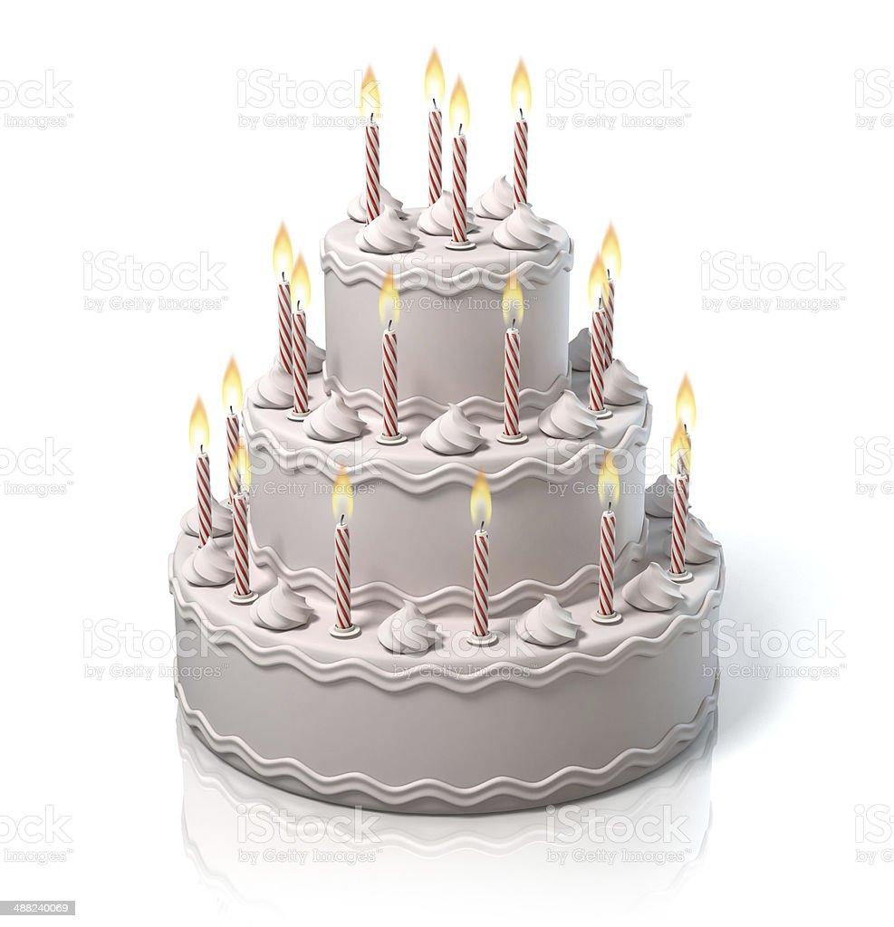 birthday, anniversary cake stock photo