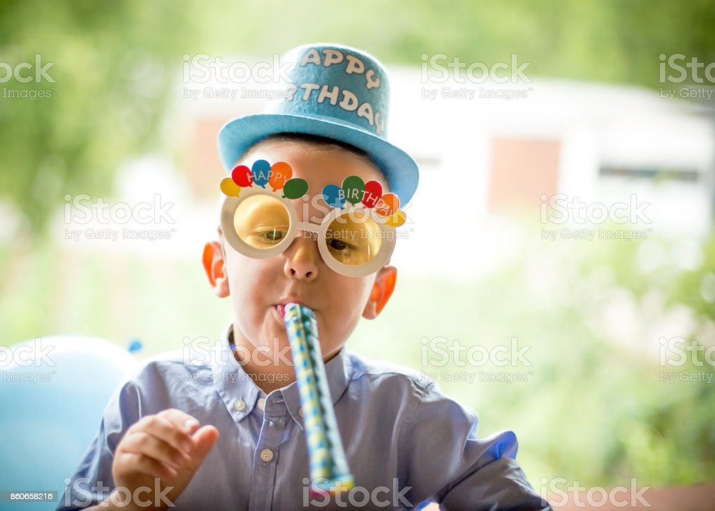 Birthday boy stock photo