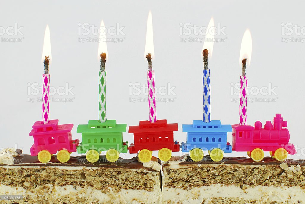 birthday cake and candles royalty-free stock photo