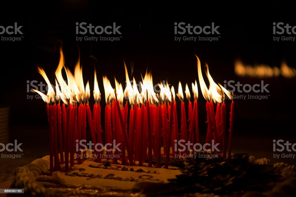 Birthday Cake Candles Stock Photo More Pictures Of Backgrounds
