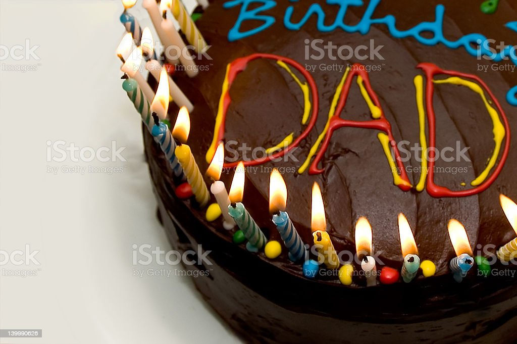 birthday cake dad stock photo