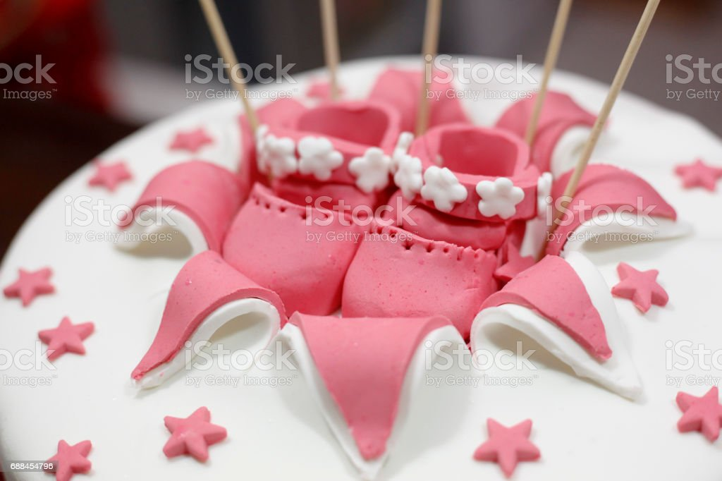 Brilliant Birthday Cake Decoration For Baby Girl Stock Photo Download Funny Birthday Cards Online Alyptdamsfinfo