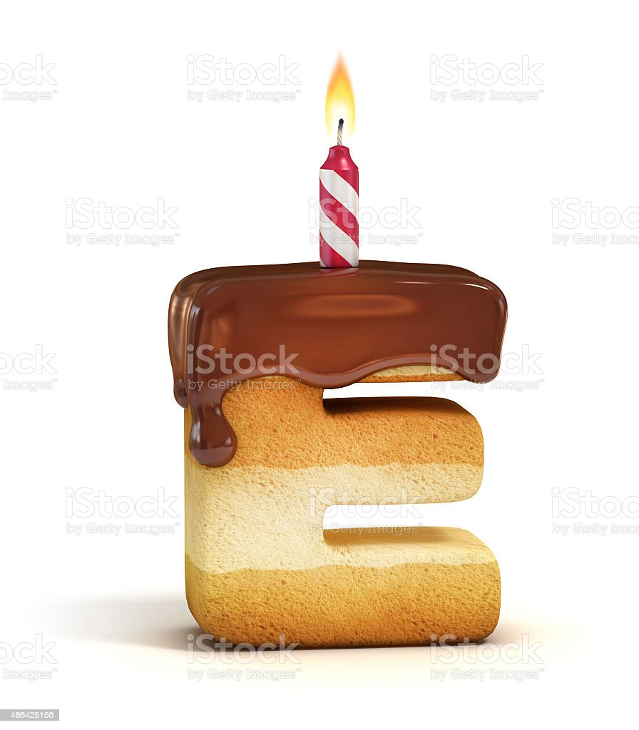 Birthday Cake Font Letter E Stock Photo More Pictures Of 2015 Istock
