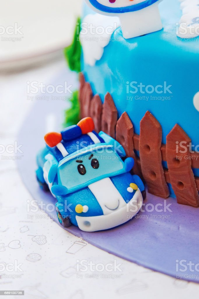 Superb Birthday Cake For 1 Year Old Boy Stock Photo Download Image Now Funny Birthday Cards Online Sheoxdamsfinfo