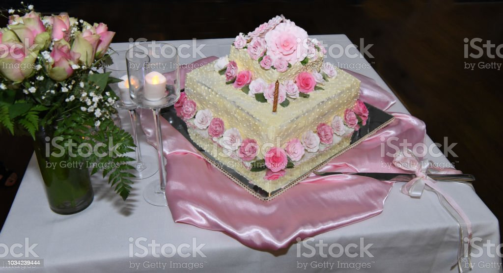 Birthday Cake for a Special occasion. stock photo