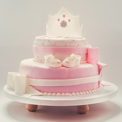 Super Birthday Cake For Baby Queen Stock Photo Download Image Now Istock Funny Birthday Cards Online Alyptdamsfinfo