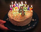 birthday cake for four year old