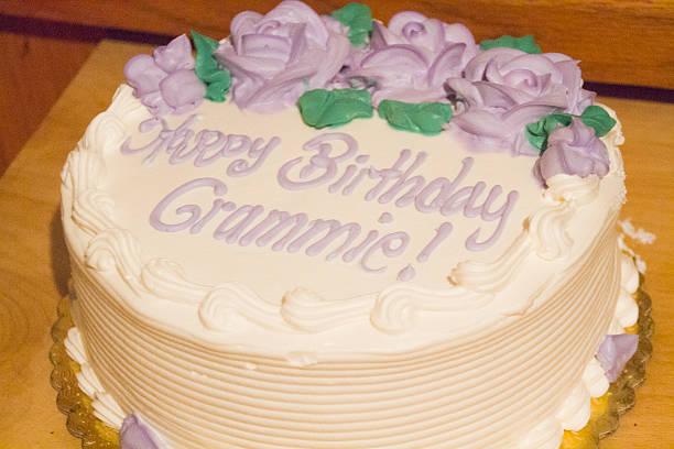 Birthday Cake for Grandma stock photo