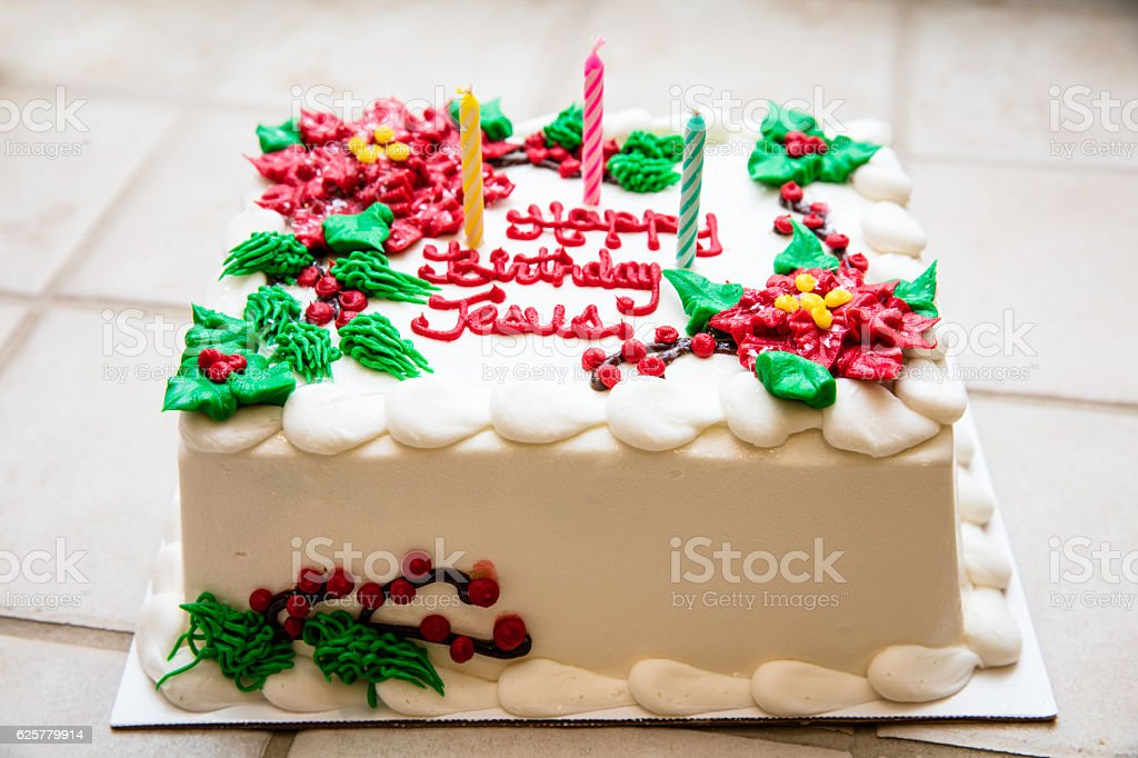 Phenomenal Birthday Cake For Jesus Stock Photo Download Image Now Istock Personalised Birthday Cards Veneteletsinfo