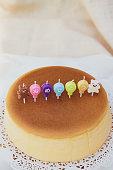 istock Birthday cake Japanese Cheese Cake. 1295410148