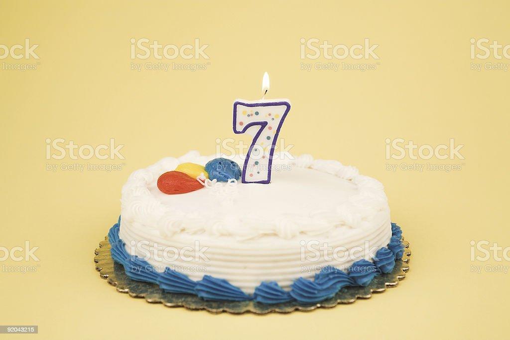 Birthday Cake Number Series (7) stock photo