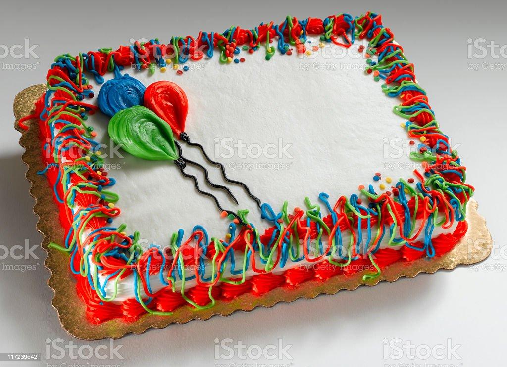 Birthday Cake on white stock photo